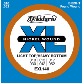 JEU DE CORDES D'ADDARIO REGULAR LIGHT-TOP HEAVY EXL140
