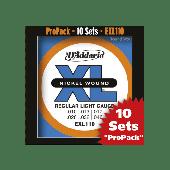 PACK DE 10 JEUX DE CORDES D'ADDARIO REGULAR 10 JEUX LIGHT EXL110-10P