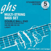 JEU DECORDES BASSE GHS STRINGS 5LDBB DOUBLE BOULE STAINLESS STEEL