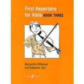 FIRST REPERTOIRE FOR VIOLA  BOOK 3 ALTO