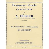 PERIER A. 331 EXERCICES JOURNALIERS DE MECANISME CLARINETTE