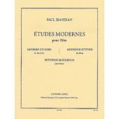 JEANJEAN P. ETUDES MODERNES FLUTE
