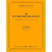 NAULAIS J. 20 ETUDES RECREATIVES SAXOPHONE OU HAUTBOIS