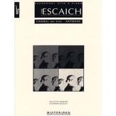 ESCAICH T. CHORALE EN TRIO - ANTIENNE SAXO MIB