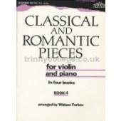 CLASSICAL AND ROMANTIC PIECES VOL 4 VIOLON