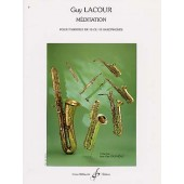 LACOUR G. MEDITATION ENSEMBLE DE SAXOS