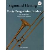 HERING S. 40 PROGRESSIVE ETUDES TROMBONE