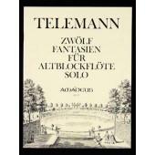 TELEMANN G.P. 12 FANTAISIES FLUTE ALTO