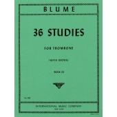 BLUME 36 STUDIES VOL 3 TROMBONE