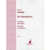 DARKE H. SIX MINIATURES HAUTBOIS