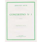 HECK A. CONCERTINO N°5 OPUS 42 VIOLON