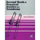 BORDNER SECOND BOOK OF PRATICAL STUDIES FOR TROMBONE