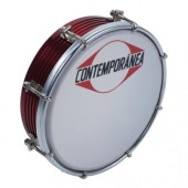 CONTEMPORANEA TAMBORIM 6'' FRISADO ALU - RED 8 TIRANTS