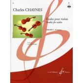 CHAYNES C. ETUDES POUR VIOLON VOL 3