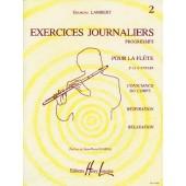 LAMBERT G. EXERCICES JOURNALIERS VOL 2 FLUTE