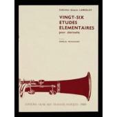 LANCELOT J. 26 ETUDES ELEMENTAIRES CLARINETTE