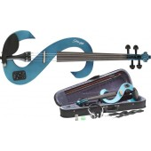 VIOLON ELECTRIQUE STAGG BLEU TRANSPARENT