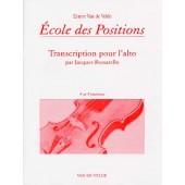 VAN DE VELDE E./BORSARELLO J. ECOLE DES POSITIONS 4ME ET 5ME ALTO