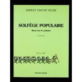 VAN DE VELDE SOLFEGE POPULAIRE CLE DE SOL