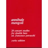 MENGOLI A. 20 CONCERT STUDIES DOUBLE BASS