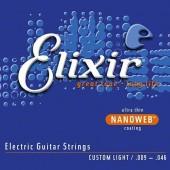 JEU DE CORDES ELECTRIQUE ELIXIR 12027 CUSTOM LIGHT 9/46
