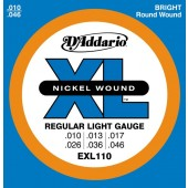JEU DE CORDES D'ADDARIO EXL110 REGULAR LIGHT 10-46