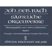 BACH J.S. OEUVRES POUR ORGUE VOL 5