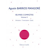 BARRIOS MANGORE A. OEUVRES COMPLETES VOL 5 GUITARE