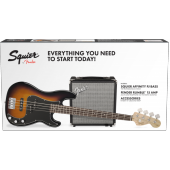 PACK BASSE SQUIER PJ BASS R15V3 BROWN SUNBURST