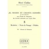CHALLAN H. 380 BASSES ET CHANTS DONNES VOL 8B