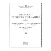 DELECLUSE J. 200 EXERCICES JOURNALIERS VOL 2 XYLOPHONE