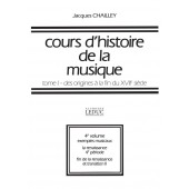 CHAILLEY J. COURS D'HISTOIRE DE LA MUSIQUE TOME 1 VOL 4