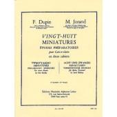 DUPIN F./JORAND M. 28 MINIATURES VOL 2 CAISSE CLAIRE