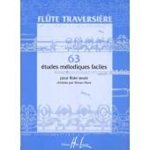 HUNT S. 63 ETUDES MELODIQUES ET FACILES FLUTE