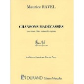 RAVEL M. CHANSONS MADECASSES CHANT, FLUTE, VIOLONCELLE PIANO