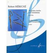 HERICHE R. 24 PETITES ETUDES ET 4 RECREATIONS FLUTE