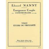 NANNY E. ETUDES DE VIRTUOSITE CONTREBASSE