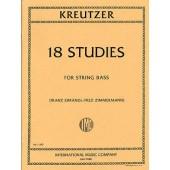 KREUTZER R. 18  ETUDES CONTREBASSE