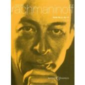 RACHMANINOV S. SUITE N°2 OP 17 2 PIANOS