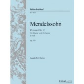 MENDELSSOHN F. CONCERTO N°2 D MINOR OP 40 PIANOS
