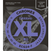 JEU DE CORDES D'ADDARIO XL JAZZ LIGHT 7 CORDES