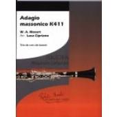 MOZART W.A. ADAGIO MASSONICO K411 TRIO CORS DE BASSET