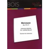 BRAMS J. BERCEUSE OP 49 N°4 QUATUOR DE CLARINETTES