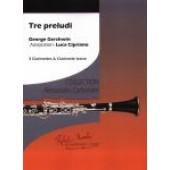 GERSHWIN G. TRE PRELUDI QUATUOR DE CLARINETTES