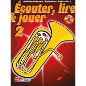 ECOUTER LIRE JOUER VOL 2 BARYTON/EUPHONIUM/SAXHORN CLE DE FA