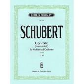SCHUBERT F. CONCERTO RE MAJEUR D 345 VIOLON