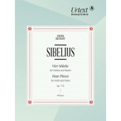 SIBELIUS J. FOUR PIECES OP 115 VIOLON