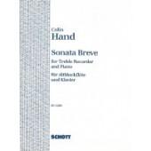 HAND C. SONATA BREVE FLUTE A BEC ALTO