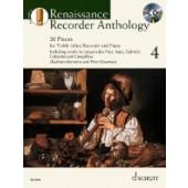 RENAISSANCE RECORDER ANTHOLOGY VOL 4  FLUTE A BEC ALTO