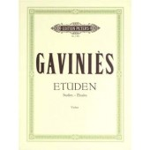 GAVINIES P. 24 ETUDES VIOLON